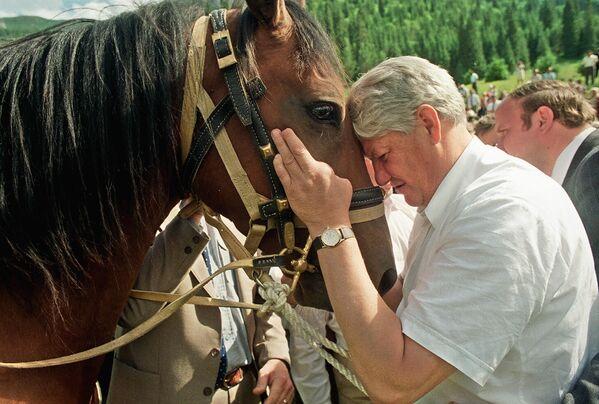 Президент России Борис Ельцин