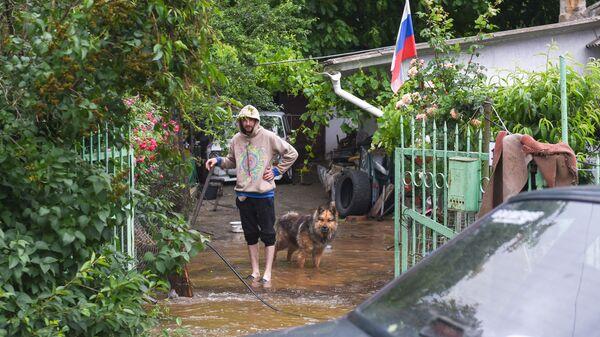Подтопление домов в Севастополе