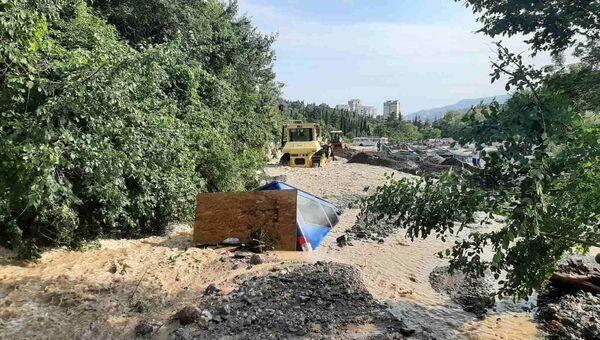 Район Васильевки в Ялте. Наводнение в Крыму. 21 июня 2021 года