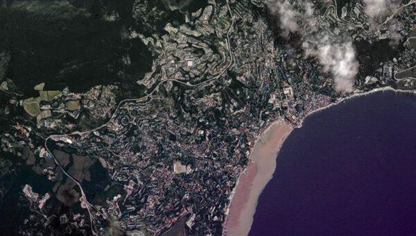 Вид Ялты из космоса
