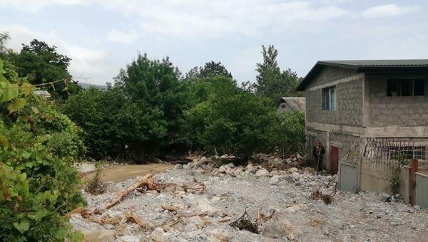 Что оставил селевой поток в районе Южнобережного шоссе