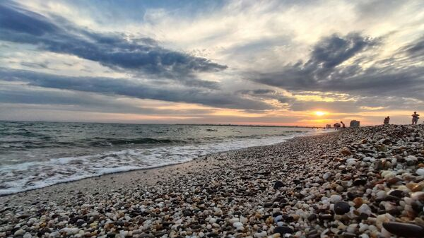Пляж в Крыму (Евпатория)