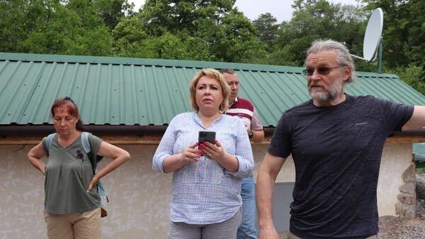 Мэр Ялты Янина Павленко на встрече с жителями пострадавших от наводнения районов