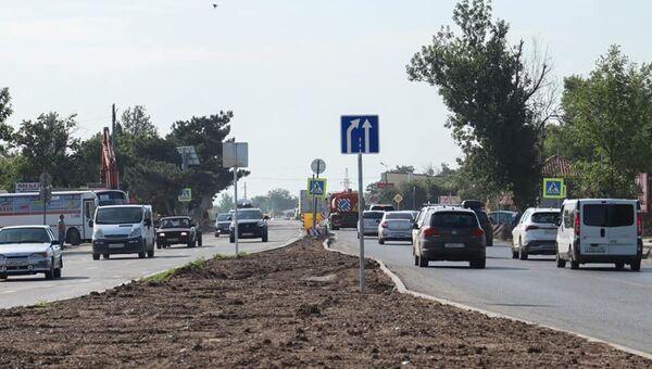 В городе Саки открыли рабочее движение на участке дороги Симферополь-Евпатория