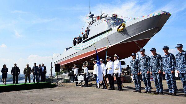 Спуск на воду катера «Кентавр» ВМС Украины