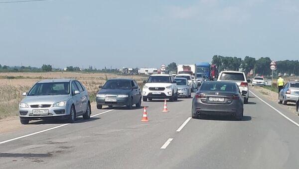 На Кубани столкнулись 13 автомобилей