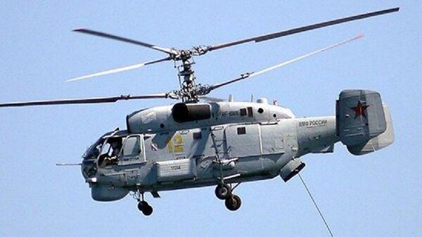 Модернизированный вертолет Ка-27М с обновленным целевым оборудованием для поиска подводных лодок