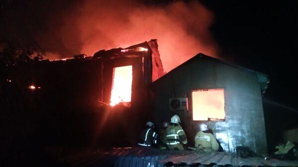 Пожар на улице Тарабукина в Симферополе