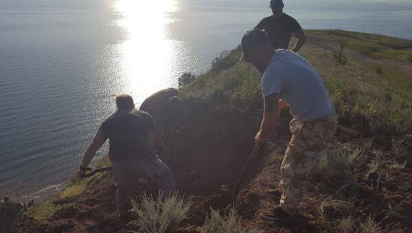 В Керчи нашли останки пятерых красноармейцев