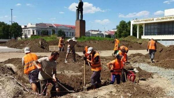 Реконструкция площади Ленина в Симферополе