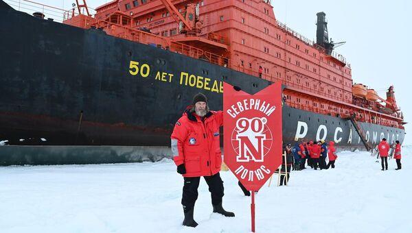 Экспедиция Федора Конюхова на Северном полюсе