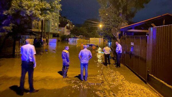 Сильные ливни затопили Сочи