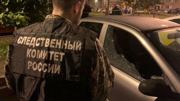 Работа следователей на месте убийства замначальника отдела уголовного розыска Ставрополя