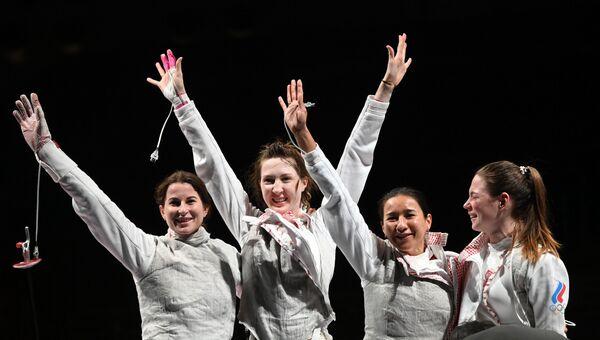 Олимпиада-2020. Фехтование. Женщины. Рапира. Командное первенство