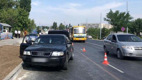 Смертельное ДТП на трассе Симферополь-Евпатория в городе Саки