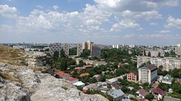 Симферополь с высоты Петровских скал