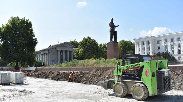 Капитальный ремонт площади Ленина в Симферополе