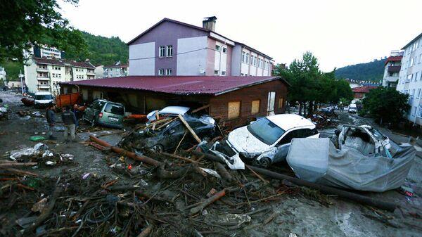 Последствия наводнения в Турции. 12.08.2021