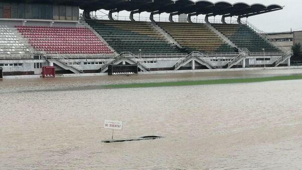 Затопленный стадион им. 50-летия Октября в Керчи