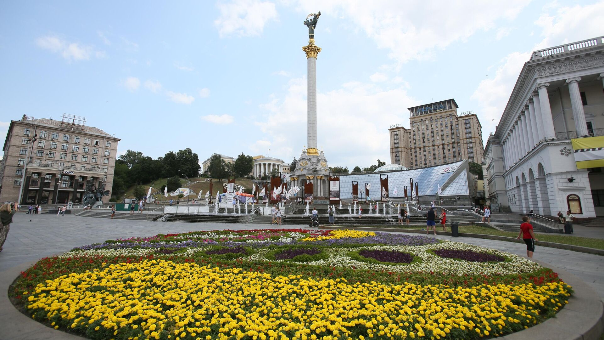 Площадь Независимости в Киеве.  - РИА Новости, 1920, 14.10.2021