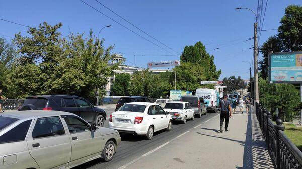 Пробки в центре Симферополя