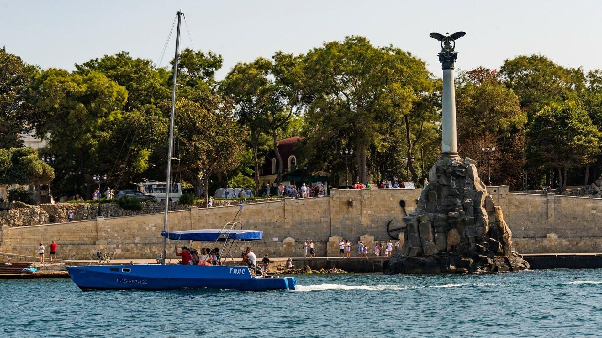 Севастополь, памятник затопленным кораблям - РИА Новости, 1920, 16.09.2021