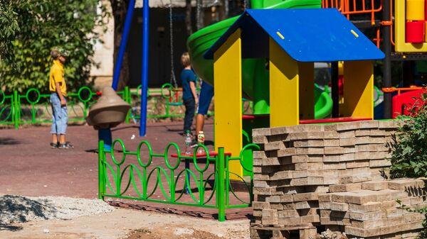 Ремонт придомовых территорий в Симферополе. Детская площадка