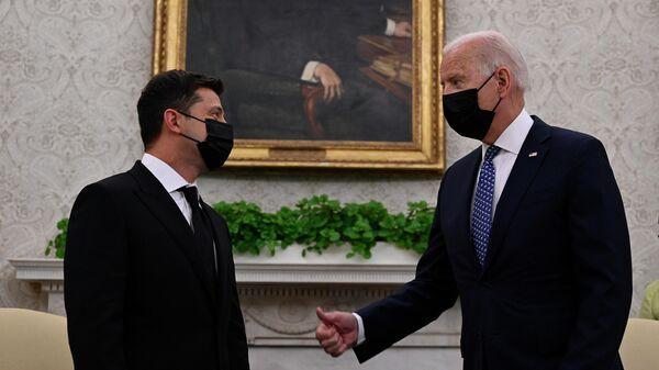 Встреча президента Украины Владимира Зеленского с президентом США Джозефом Байденом в Белом доме