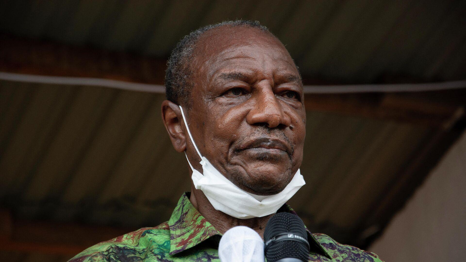 Президент Гвинеи Альфа Конде - РИА Новости, 1920, 05.09.2021