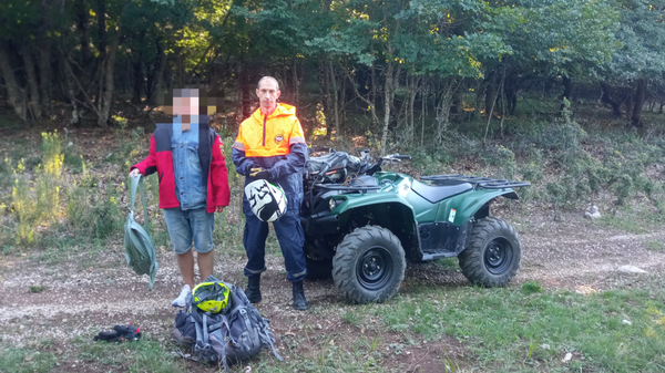 Турист заблудился при спуске с Чатыр-Дага и был обнаружен спасателями