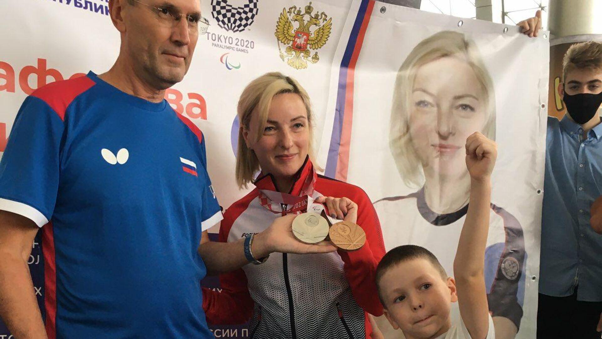 Виктория Сафонова с сыном - РИА Новости, 1920, 14.09.2021