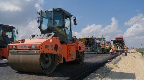 Асфальтирование новой федеральной трассы А-289