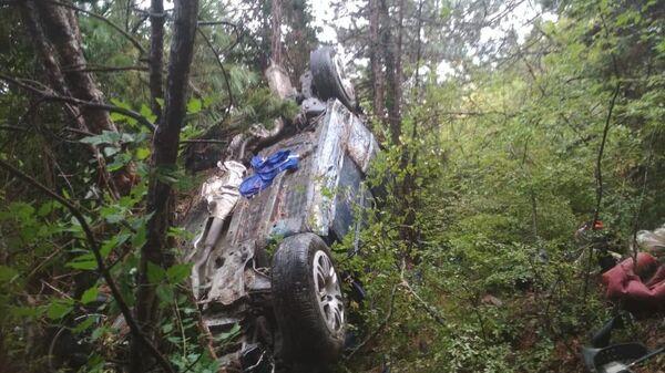 Автомобиль с пассажирами упал с обрыва недалеко от Форосской церкви