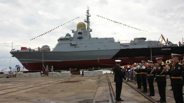 В Керчи спустили на воду новый малый ракетный корабль  проекта 22800 Каракурт