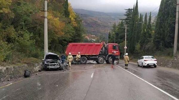 ДТП на автодороге Алушта - Ялта, 13.10.2021