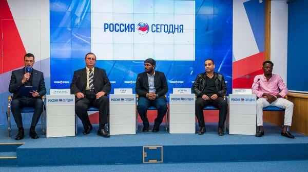 Пресс-конференция Участники пресс-конференции Без границ: как Крым представлен в мировом образовательном пространстве