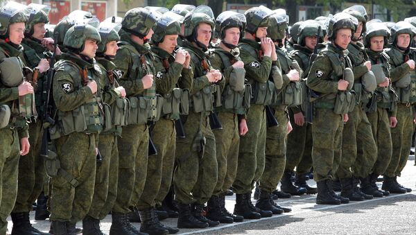 Подготовка к строевому смотру Симферопольской бригады внутренних войск МВД России