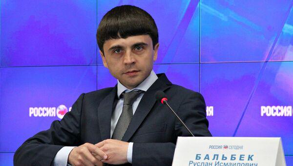 Руслан Бальбек, вице-премьер крымского правительства