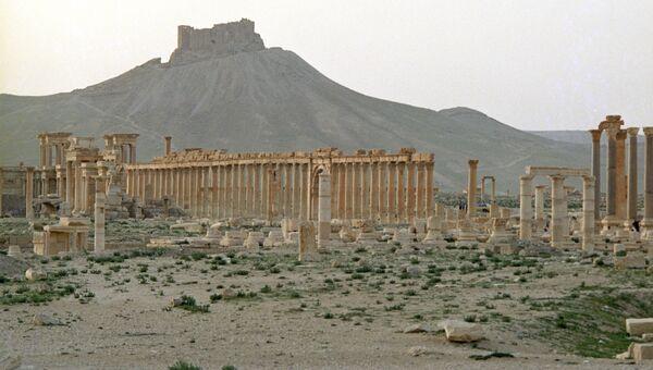 Руины древнего города Пальмиры
