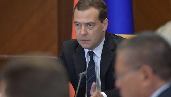 Премьер-министр РФ Д.Медведев провел совещание по ситуации в банковском секторе