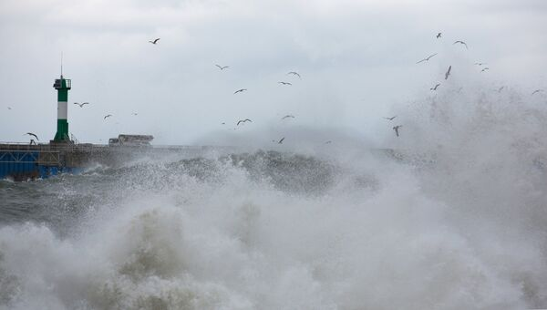 Шторм в море. Архивное фото