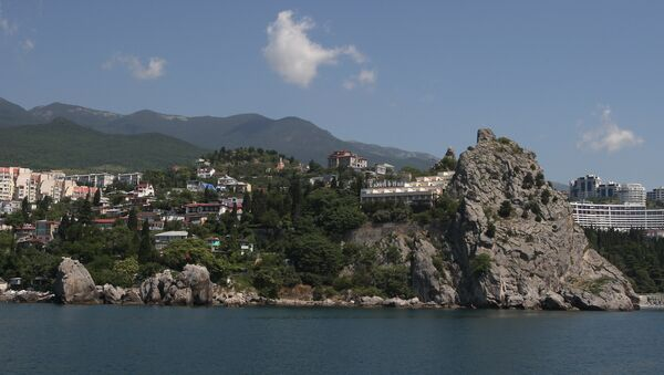 Гурзуф на южном берегу Крыма