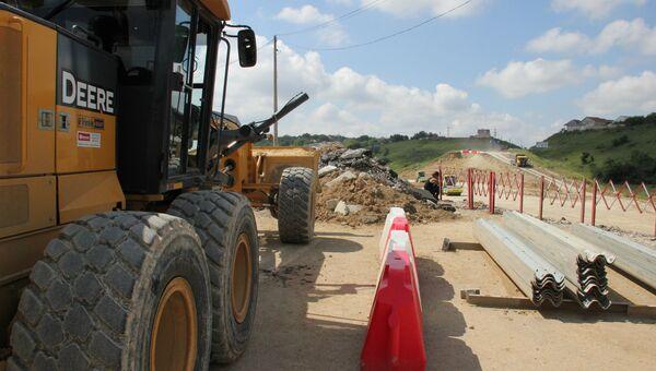 Ремонт объездной дороги в Симферополе на участке Мирное-Дубки