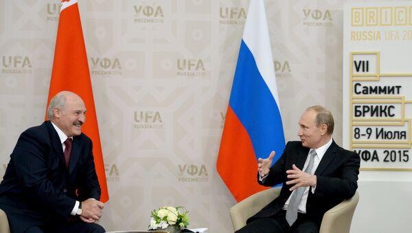 Беседа Президента Российской Федерации Владимира Путина с Президентом Республики Белоруссия Александром Лукашенко