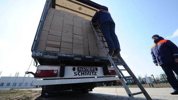 Подготовка гуманитарного конвоя