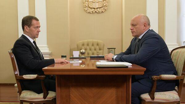 Рабочая поездка премьер-министра РФ Д.Медведева в Омскую область
