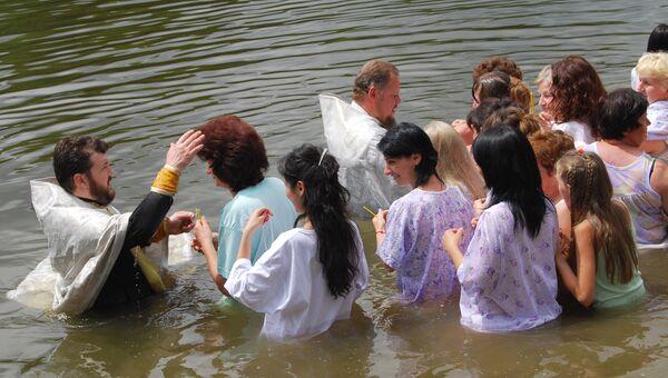 Массовое крещение в Аланском Богоявленском женском монастыре