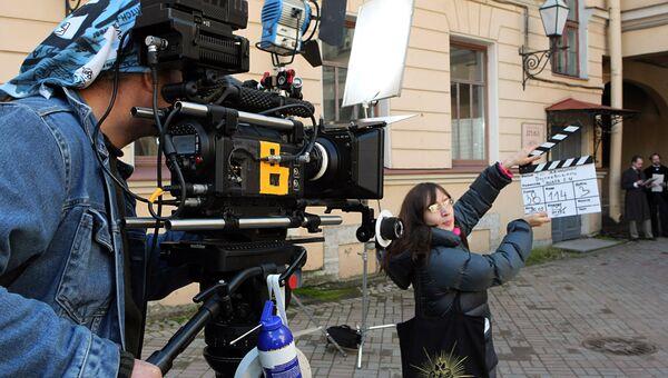 Съемки фильма Три женщины Достоевского режиссера Евгения Ташкова