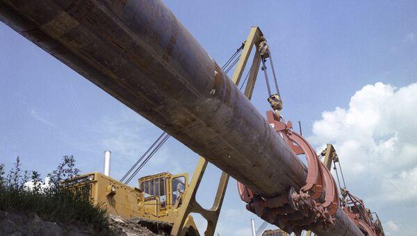Строительство газопровода Союз