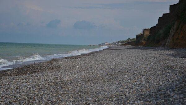 Поселок Николаевка. Пляж.
